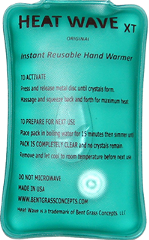 Heat Wave Hand Warmer XT Instant Reusable Hand Warmers
