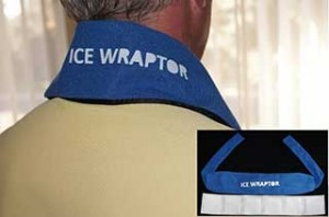 Ice Wraptor Ice Bandana on Neck with cutout