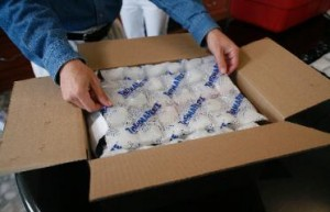 Thermafreeze reusable ice sheets can be used for shipping perishables