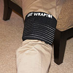 Heat Wraptor Heat Wraps provide heat therapy to your knee