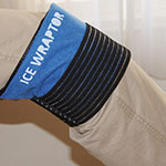 Ice Wraptor Ice Wraps provide cold therapy to your knee